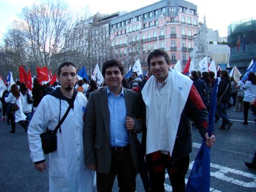 Bernardino Soares na Manifestação